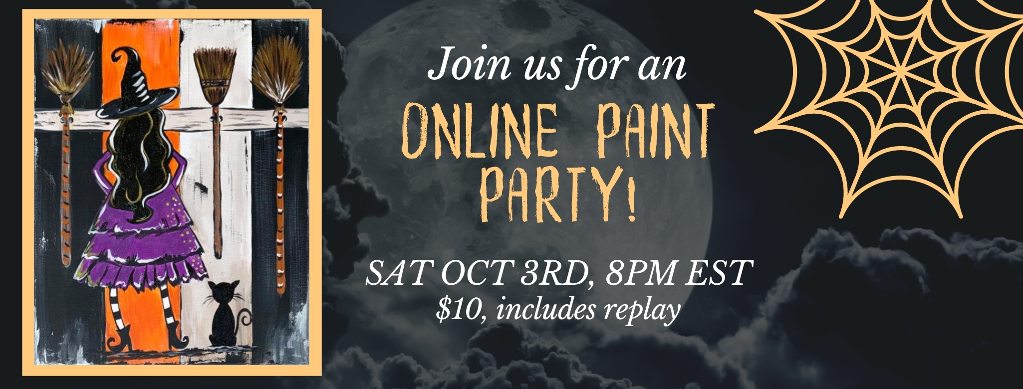 Witchy Baby Online Paint Party